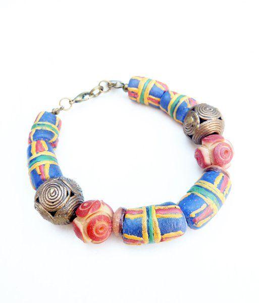 Armbanden - African bracelet with beads from Ghana (S-531b) - Een uniek product van DomesDesign op DaWanda