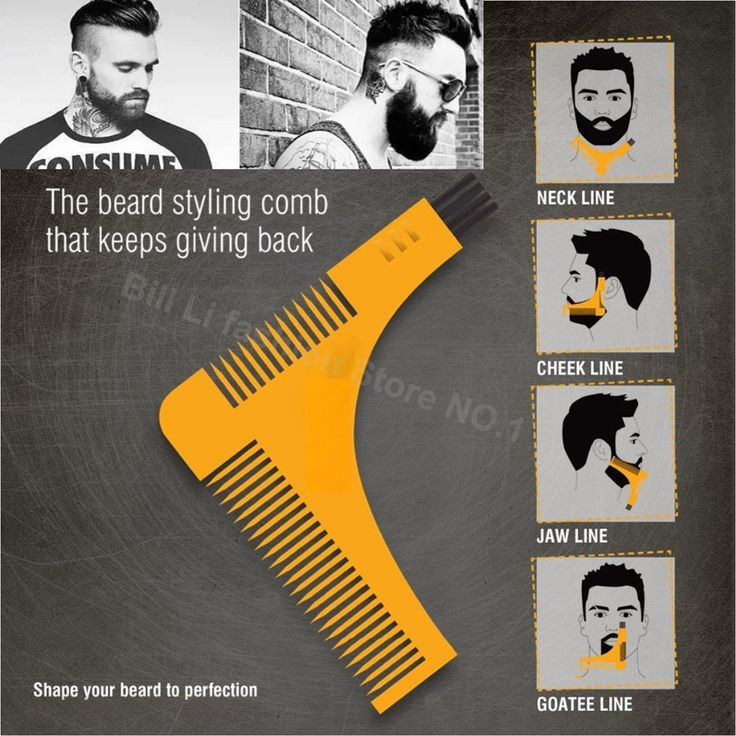Beard Bro Hair Trimmers Hair Care Styling Man Gentleman Beard Trim Template hair cut molding Hair clipper beard modelling tools
