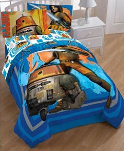 Star Wars Rebels Rule 64 x 86 Twin Reversible Comforter with Sham ** To view further for this item, visit the image link.