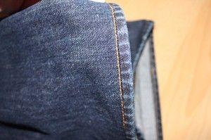 Hose umnähen mit Originalsaum. Sieht auch innen super aus, so dass die Hose im Sommer auch umgekrämpelt werden kann. Sehr gut erklärt. Mit Bildern
