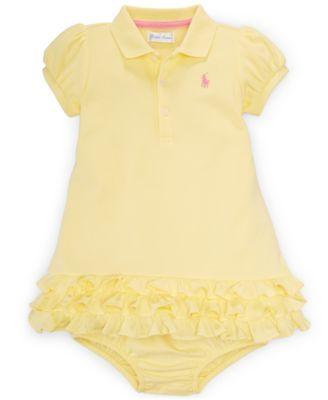 Ralph Lauren Baby Girls' Polo Dress & Bloomer Set - Kids & Baby - Macy's