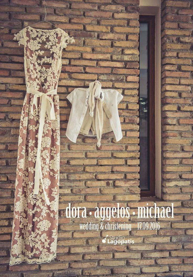 #wedding #christening #baptism #weddingdress #bride #vintage #motherandson www.lagopatis.gr