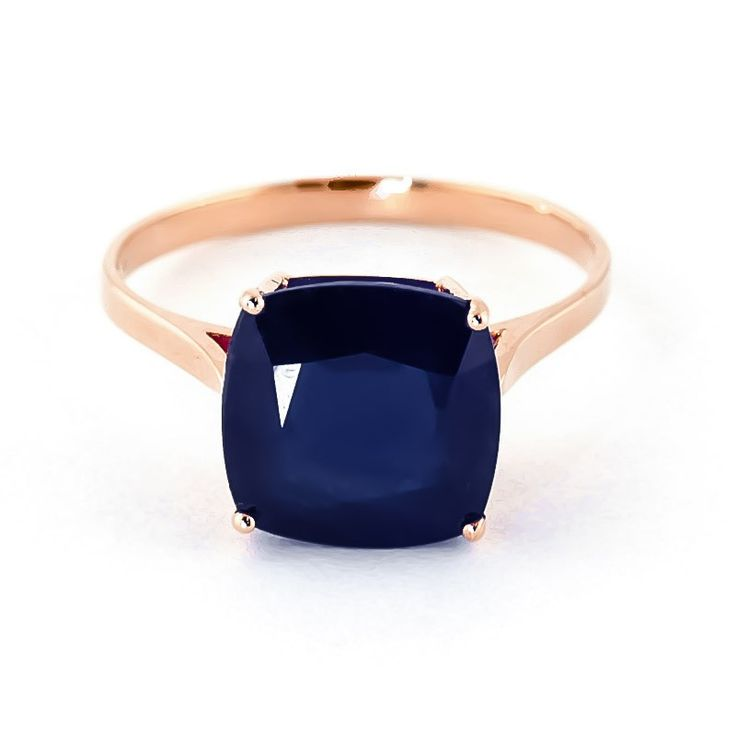 14K Rose Gold 4.83ct Sapphire Rococo Cushion Ring - GJ4326R | Gifted Jewelry
