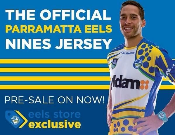 Parramatta Eels have released their jersey for the Auckland 9's. Polka dots? Good way to generate revenue plus give the fans something different and unique for a jersey