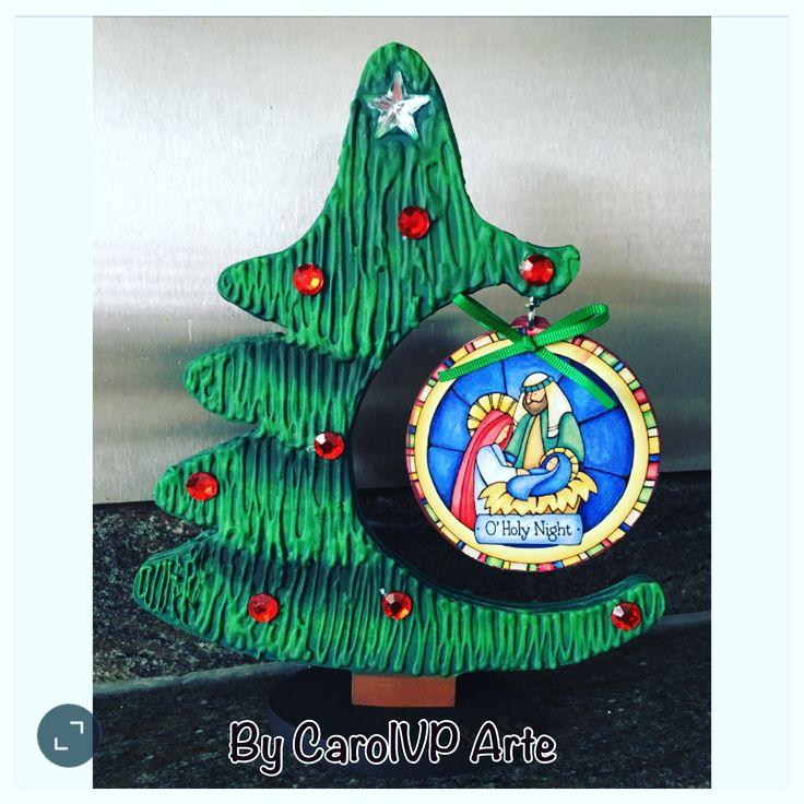 Árbol de Navidad texturizado doble cara by CarolVP Arte