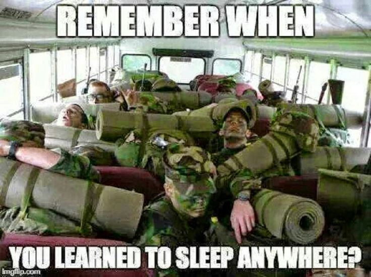 I have always envied military guys the ability to fall asleep anywhere, and within minutes. Even my dad and uncles kept this skill after Vietnam. SO. NOT. FAIR.