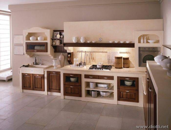 Moduli industriali per finte cucine muratura, prefabbricate, permetterà di modificare successivamente la struttura