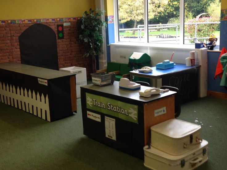 EYFS train station role play area
