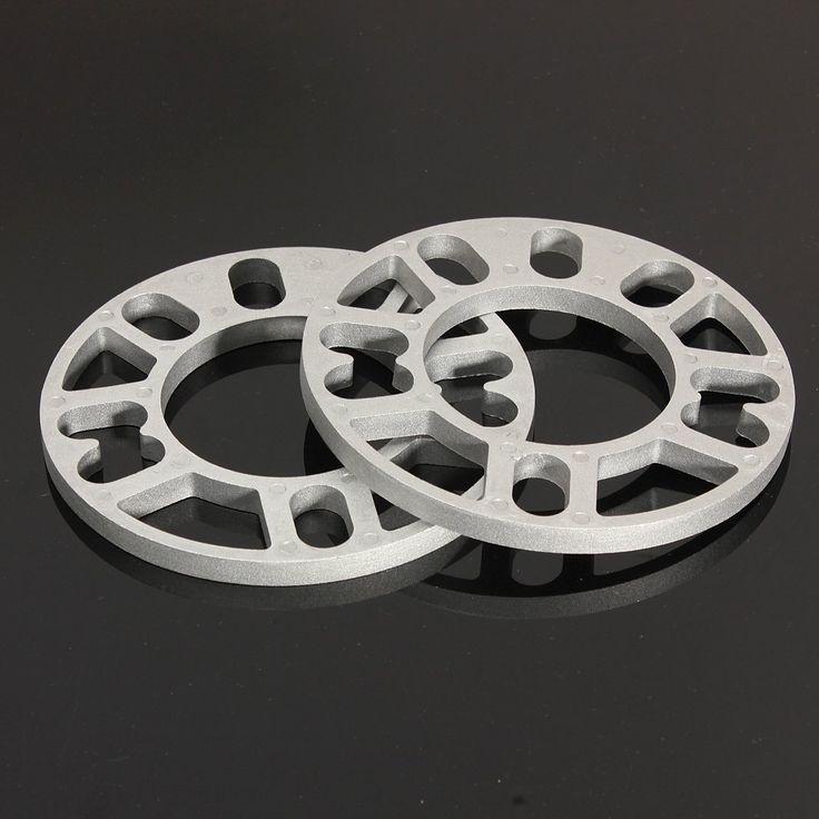 2pcs Universal 10MM Alloy Aluminum Wheel Spacers Shims Plate 4 / 5 Stud Fit