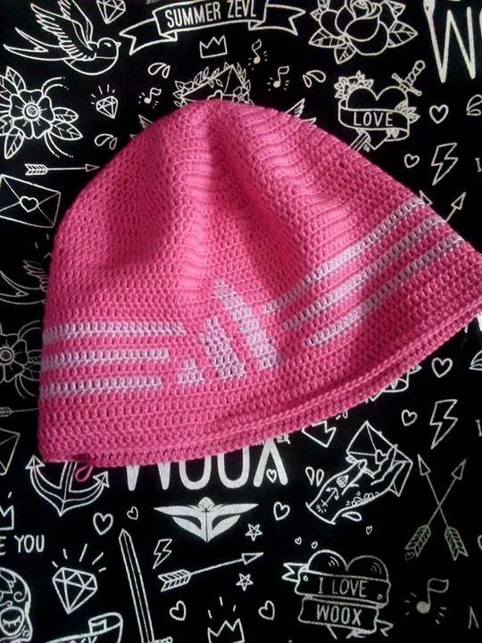 háčkovaná čepice Adidas/Crochet cap