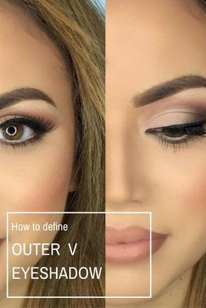 """How To Define The Outer """"V"""" Eyeshadow: learn how to do one of the basic eyeshadow techniques - how to create dimension and depth by defining an area of your eye, known as the outer """"V"""""""