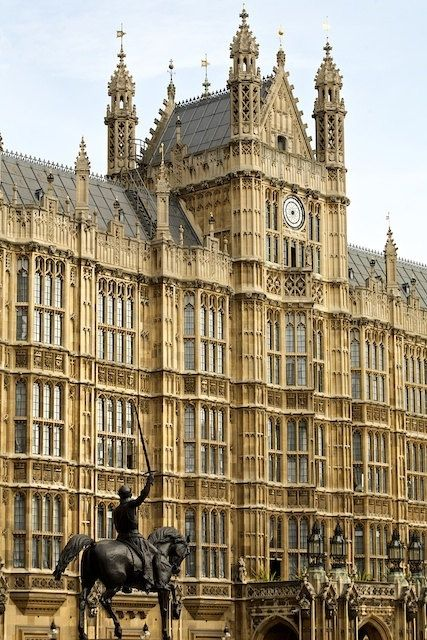 The Palace of Westminster, London. (London Parliament)