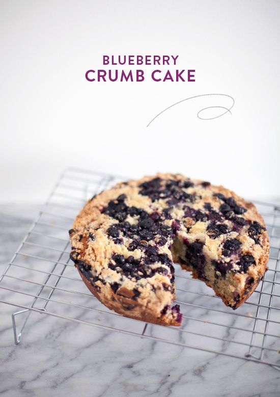 So berry good -- this Blueberry Crumb Cake from designlovefest would be a great addition to an Easter brunch. #springtime