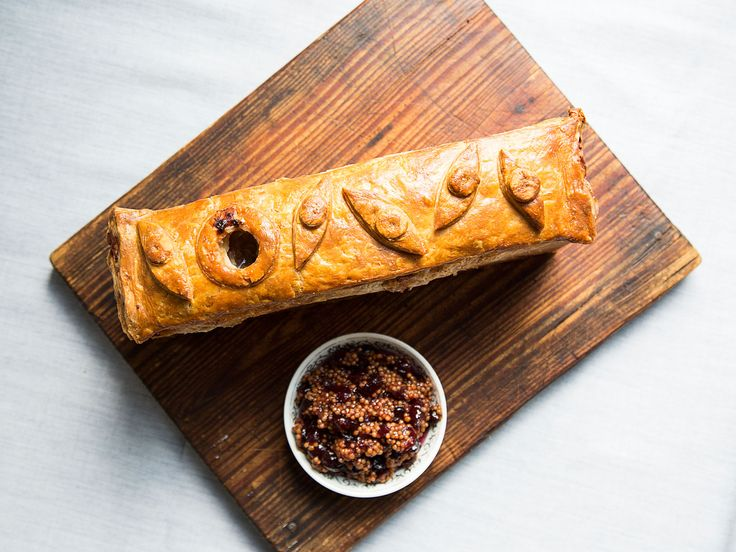 You've likely seen beef en croute (a.k.a. beef Wellington), and brie en croute (baked brie), but if you want to go the extra mile for your holiday party, try this: duck pâté en croute.