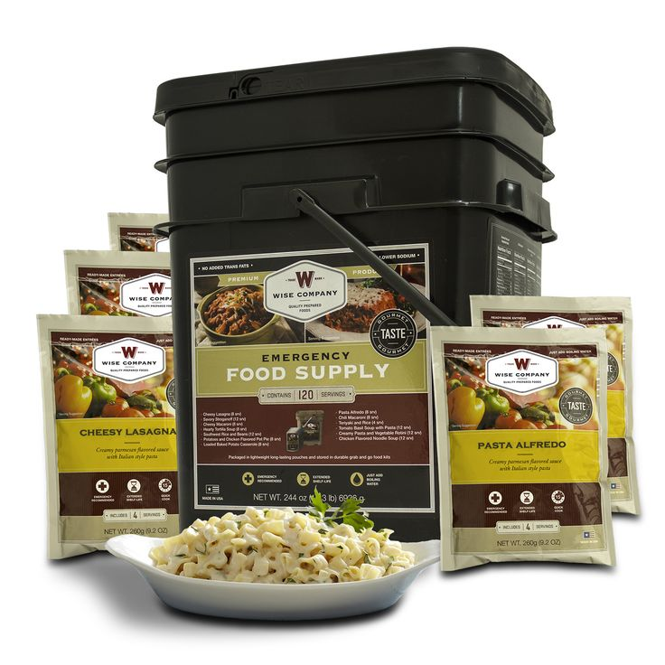 Wise Foods 120 Servings Grab and Go Bucket - Entrée Only
