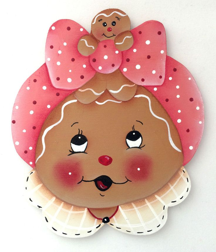 HP GINGERBREAD FRIDGE MAGNET ginger face