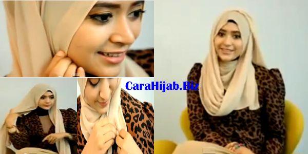 Tutorial Hijab Pashmina Sifon Polos   Cara Hijab