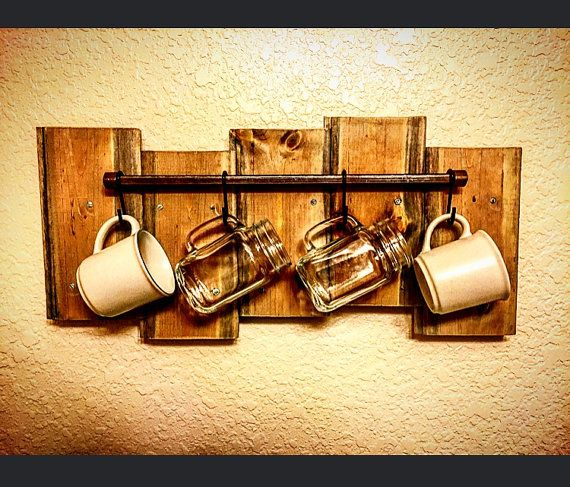 Coffee Cup And Mug Hanger Wall Decor Kitchen By