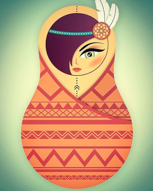 #matroschkabande #matroschka #indian #winnetou #structure #ethno #Feder #traumfänger #dreamhunter #indiantattoo #Mädchen #girl #sweet #love #liebe #hipster #illustration #instagood