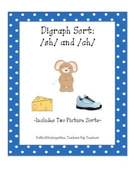 This activity is a cut and paste to reinforce initial diagraphs /ch/ and /sh/. There is one student worksheet, and two sets of pictures. Each set of pictures contains 4 /ch/ and 4 /sh/ pictures for sorting.