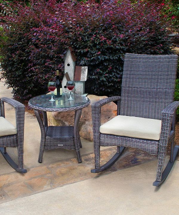 valentine 3-piece swivel bistro set by sirio