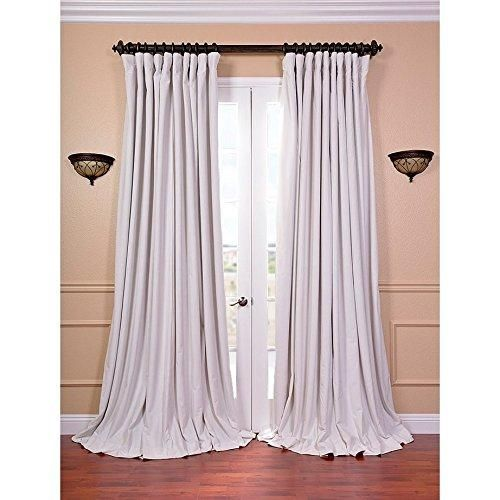 96 Inch Girls Off white Color Blackout Extra Wide Curtain Single Panel Ivory Allover Pattern Window Drapes Kids Themed Energy Efficient Rod Pocket