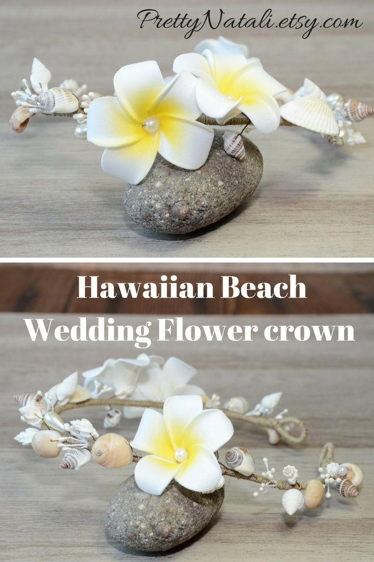 Lovely Hawaiian Beach Wedding Headpiece with real seashells , Plumeria artificial flowers and beads. A great nautical wedding Headpiece for your beach or destination wedding. Hawaiian Beach Wedding Flower crown, Bridal SeaShells Headband , Nautical Destination wedding, Mermaid Wedding Hair Accessories, Bride Seashell Headpiece #beachwedding #shellflowercrown #seashellheadpiece #seashellheadband
