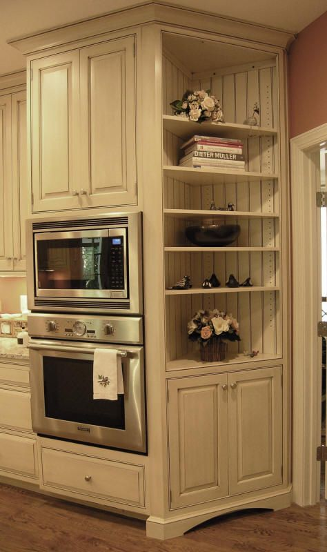 10 best ideas about corner bookshelves on pinterest for Built in oven kitchen cabinets
