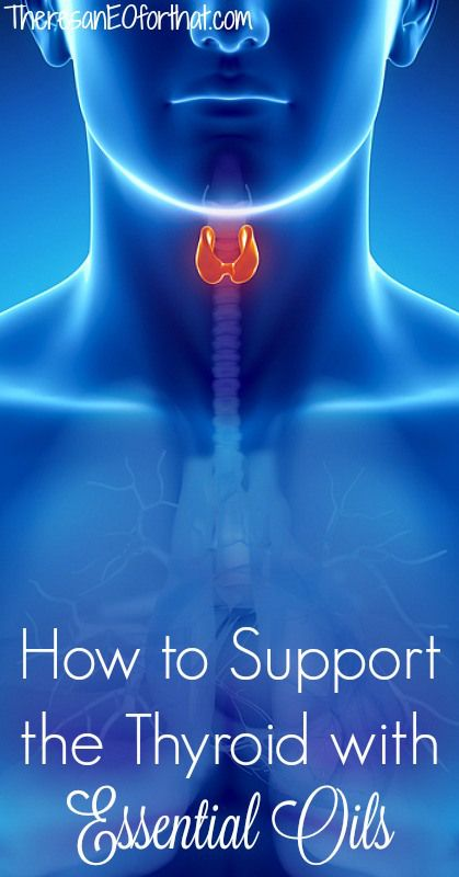 How to SUpport the Thyroid with Essential Oils- Do you often feel fatigued, run down, and just plain worn out? Are your hands and feet colder than usual? Are you gaining weight that refuses to come off? Is your skin dry and is your hair brittle? If you answered yes to these questions then your thyroid may need a little TLC. #essentialoils #thyroid