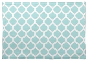 Blue Moroccan Pattern Placemat contemporary-dishtowels