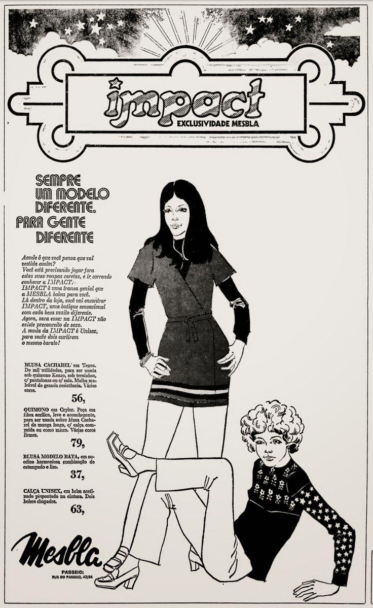 Anúncio moda Impact - 1972 | Propagandas vintage, Anúncios ...