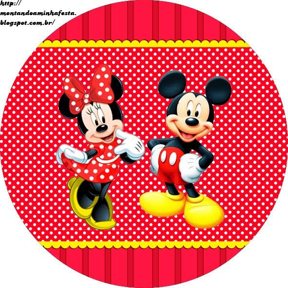 Kits Imprimibles Piquilin: Kit Imprimible Mickey y Minnie 2 GRATIS