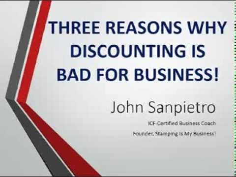 """Lots of """"business-building"""" ideas being thrown around lately center around discounting or giving away product... but does this really build your business?  Probably not.  Here's why..."""