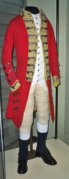 British uniform during the American War of Independence (Revolutionary War).