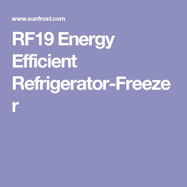 RF19 Energy Efficient Refrigerator-Freezer