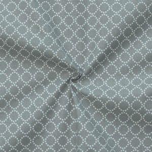 "100% Baumwollstoff ""Ringe klein"" Farbe Grau"