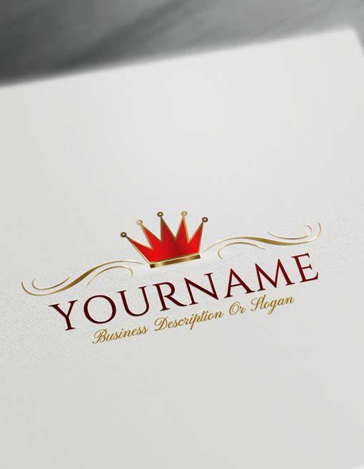 Free Logo Creator Royal Simple Crown Logo Maker