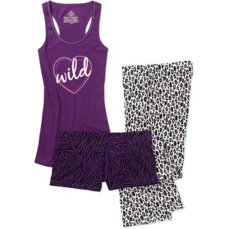No Boundaries Tank, Boxer Pant Pj Set, Purple