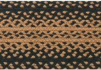 """IHF BR-180 2272 (R) Ebony Floor Area Rug, Black by IHF Ebony Braided Rugs. $64.95. All natural renewable materials. 100% Jute Braided Area Rug. Ebony 22""""x72"""" Rectangle Braided Country Rug 22"""" Wide x 72"""" LongIHF braided rugs are made from natural jute fibers and are carefully handcrafted to insure long-lasting quality. The braided rugs are absolutely beautiful and remain durable over"""