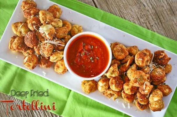 Deep fried tortellini are a crispy Italian appetizer.