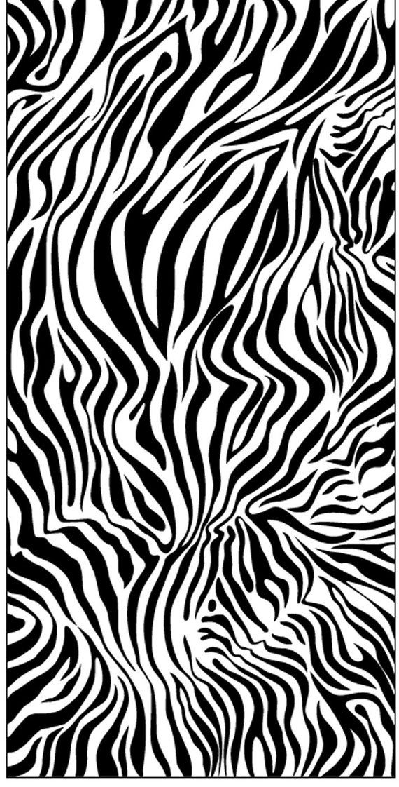 Black And White Zebra Print Beach Towel In 2020 Animal Print
