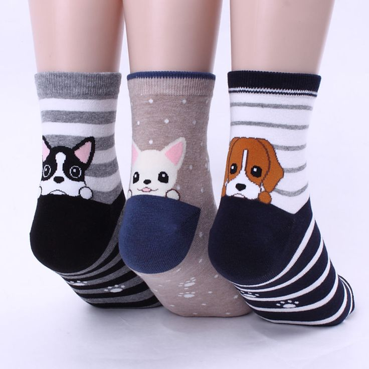 POCKET PUPPY 6PAIRS=1PACK women woman girl big kid s funny SOCKS [ukfx] #kiki #Everyday