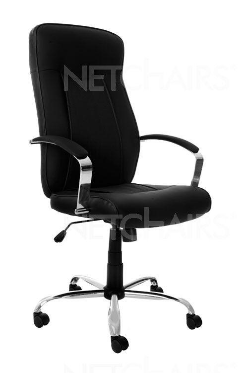 Cadeira Escritório Presidente Spelter Giratória com Rodinhas, Base Cromada, Reclinável, Função Relax e Regulagem de Altura a Gás - 6804