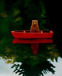 """""""Bear in Boat,"""" by Joyce Koskenmaki."""