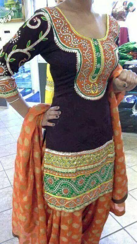 """traditionalclothingofourworld: """"http://ift.tt/1ISxWqC - Punjabi suit"""""""