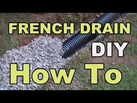 ▶ DIY FRENCH DRAIN PROJECT - YouTube