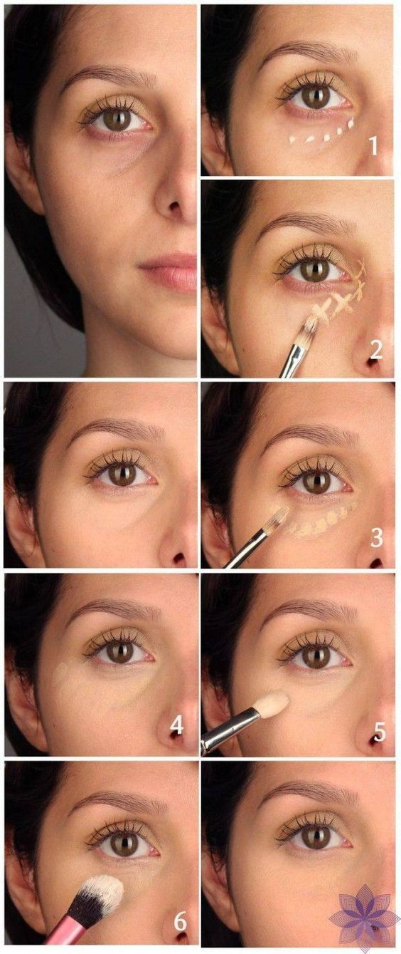Mascara Ränder Unter Den Augen