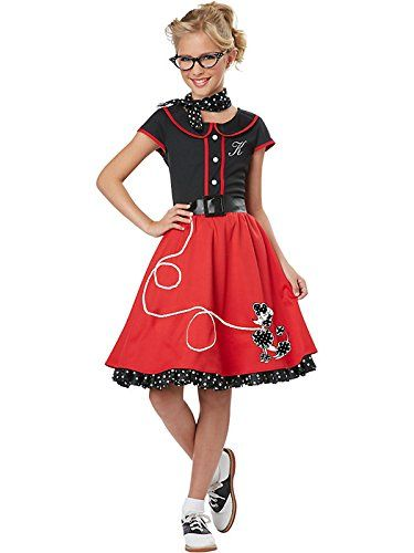 1950s costume for preteen girls - so cute.  Add saddle oxfords, too.