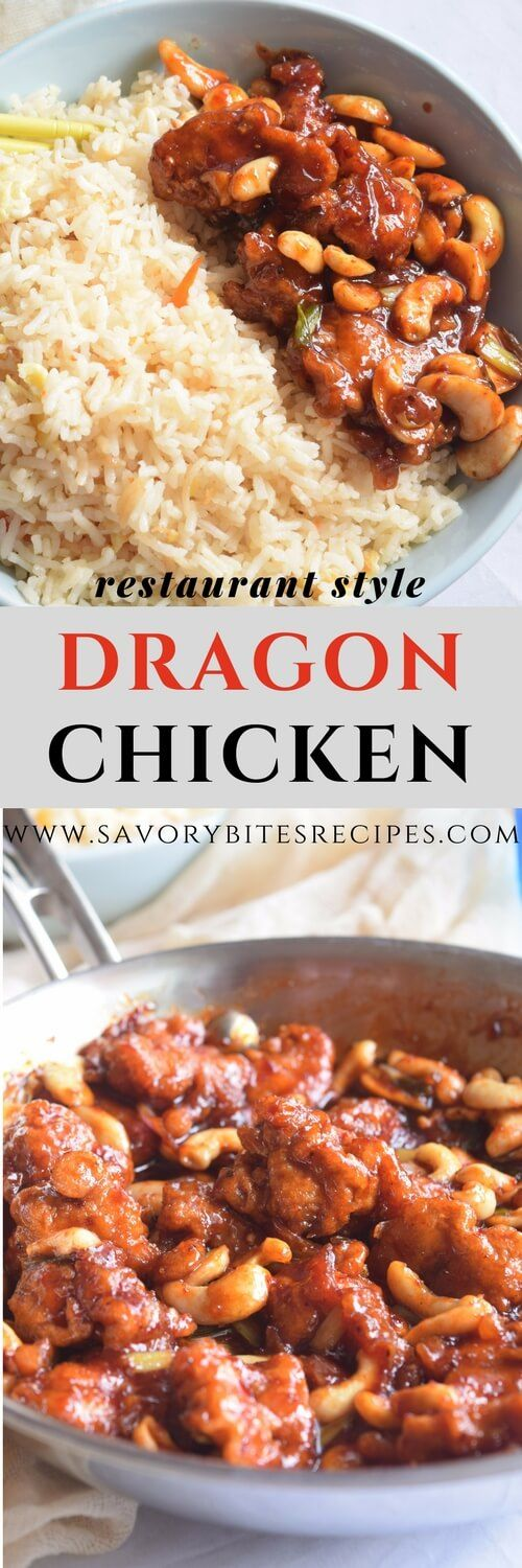 Dragon Chicken - Savory Bites -Restaurant Style Recipes #DragonChicken #chicken #easyrecipe #easycooking #yummyfood #appetizer #starters #indochinese #recipes