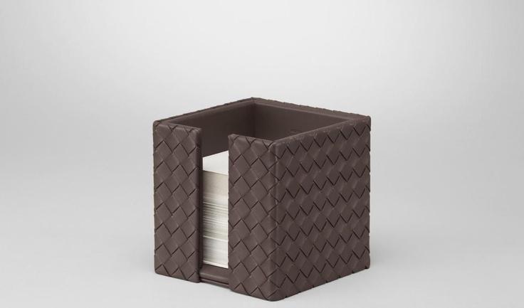 Bottega Veneta®|Intrecciato Nappa Memo Paper Holder|Desk accessory|Living